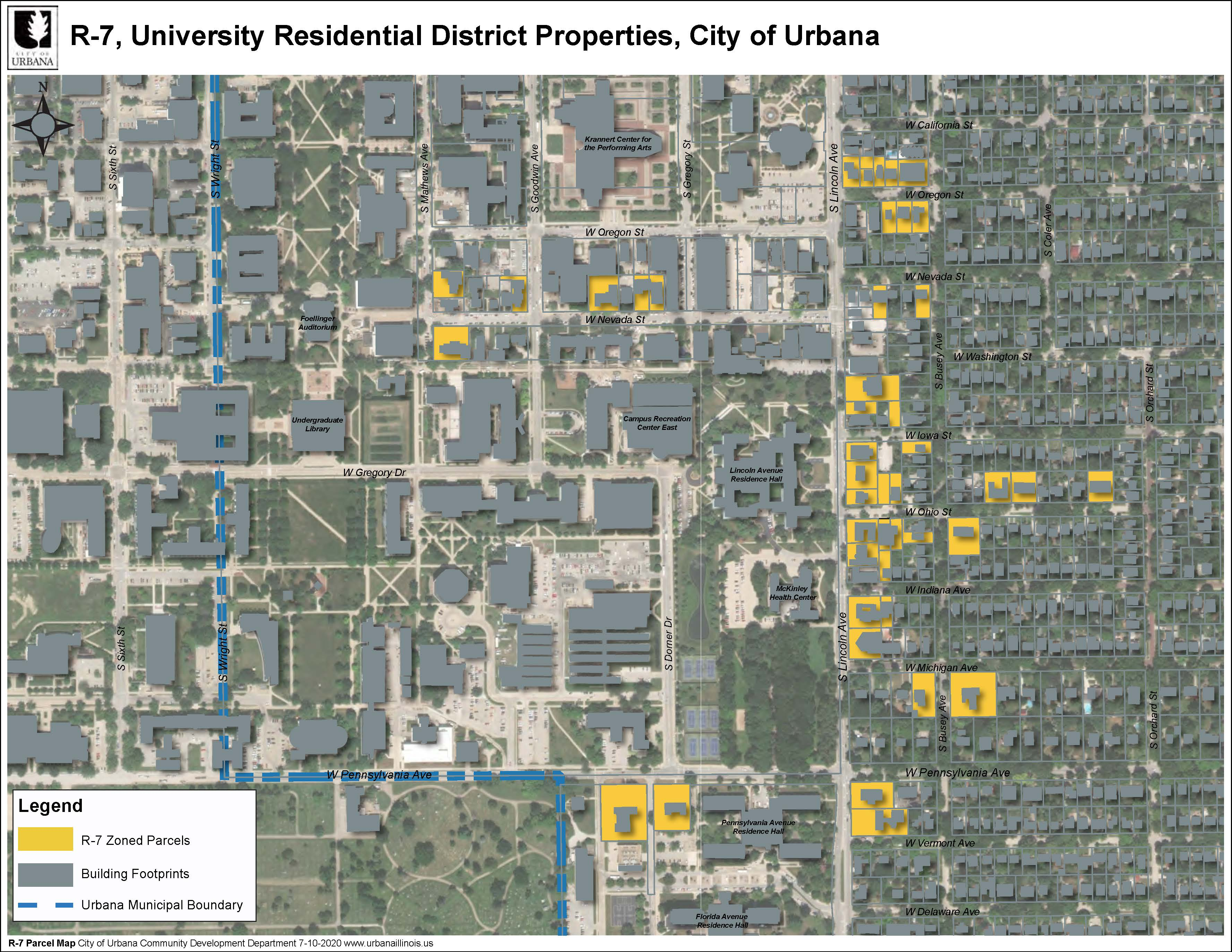 R-7 Properties in Urbana