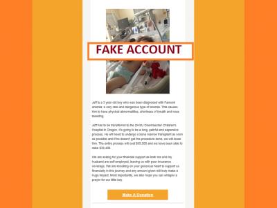 Fraudulent GoFundMe