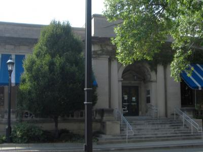 The Urbana Free Library Porch