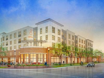 "Proposed Development ""Gather"" at University and Lincoln in Urbana, IL"