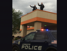 Cop on a Roof!